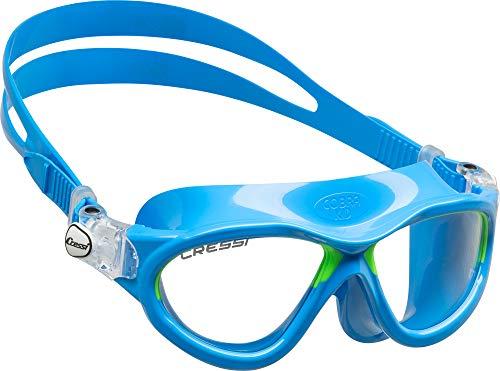 Cressi Mini Gafas, Azul Claro/Lime, 7/15 Años-Cobra Kid