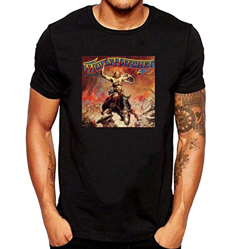 XUNLINLL Molly Hatchet Beatin The Odds Men's T Shirt Black