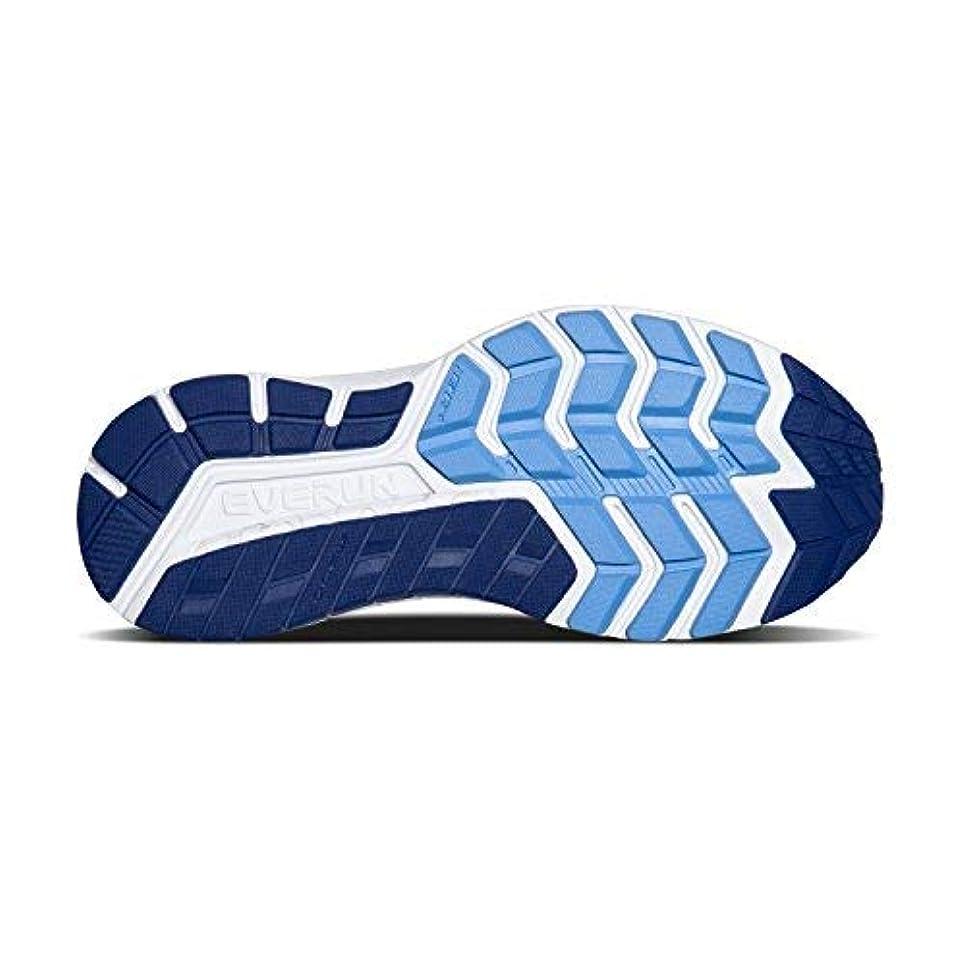 ポップ離れて想像力Saucony Women's Omni ISO Running Shoes (9.5 B(M) US Silver/Blue/Navy) [並行輸入品]