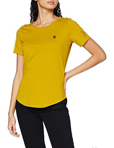 G-STAR RAW Mysid Optic Slim Camiseta, azufre Verde C506-5164, Medium para Mujer