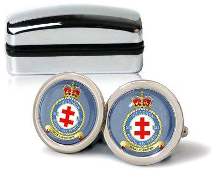 Royal Air Force Chrome 41e Squadron-Boutons de manchette avec coffret cadeau