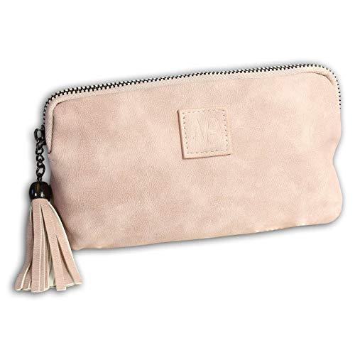 New Bags OTD5031A - Riñonera (Piel sintética, 13 x 20 x 1,5 cm), Color Rosa