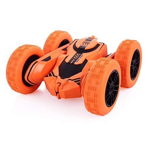 Peradix Ferngesteuertes RC Stunt Auto Spielzeug Wiederaufladbar Rennauto 360 ° Offroad Auto Indoor Outdoor Halloween&Weihnachten Geschenke für Kinder