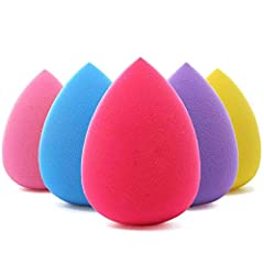 Makeup sponges for all kinds of cosmetics, foundation, BB cream, powder, concealer, isolation, liquid, etc Made from non-latex material, soft feeling, well bouncy beauty sponge, easy to distinguish Beauty makeup blender sponge gives you a perfect mak...