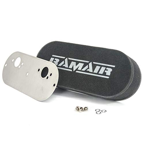 RAMAIR Performance Twin Carb Bolt en espuma filtros de aire Kit personalizado Locost coche 40mm