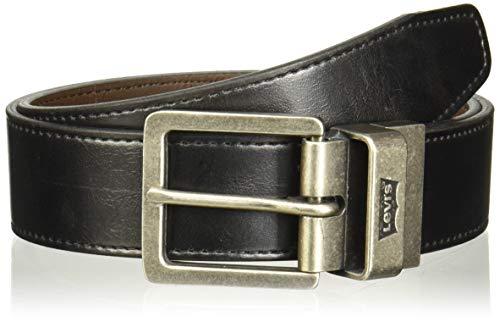 Levi's Cinturón Reversible Levis Cinturón para Hombre, color Negro/Café, 34