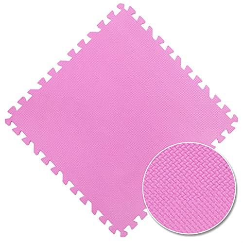 Shop-PEJ Suave 16 unids bebé EVA Espuma Puzzle Play Mat/Kids Frugs Toys Alfombra para niños Azulejos de Ejercicio para niños 9 Color 30 * 30 CM Decoración Hogar (Color : Pink)