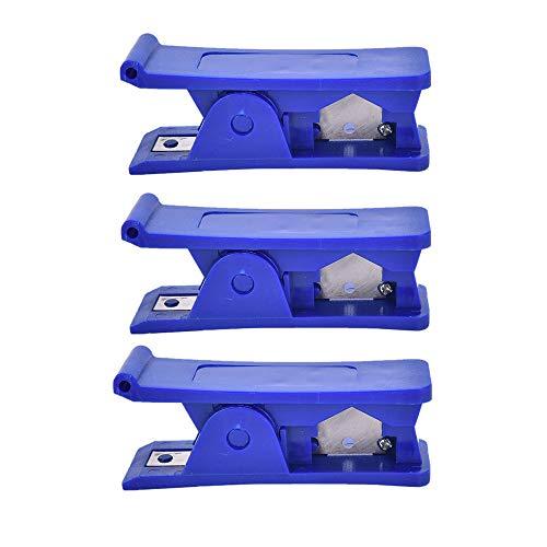 3 stücke Rohrschneider, kunststoff wirtschaftlich rohrschneider weichgummi silikon pvc nylon kunststoffrohr rohrschneider schneidwerkzeug für Schläuche und Schutzrohre