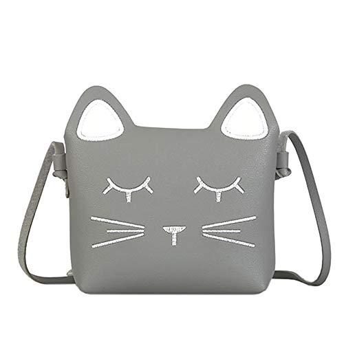 whatUneed Süße kleine Mädchen Umhängetasche Handtasche, Prinzessin Mini Taschen, Katze...