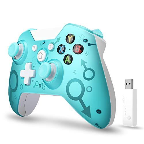 Wireless Controller, ASTARRY Wireless PC-Gamepad mit 2,4 GHz Wireless-Adapter, kompatibel mit Xbox One / One S / One X / P3-Host / Windows 7/8/10 (Blau)