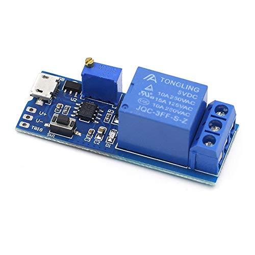 XYHHStor Relé Interruptor de 5V-30V USB Micro alimentación Ajustable relé de retardo del Temporizador de Control módulo de activación de retardo Relé electrónico,