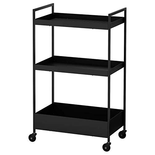 IKEA NISSAFORS Trolley Negro, 50,5 x 30 x 83 cm (19 7/8 x 11 3/4 x 32 5/8 pulgadas)