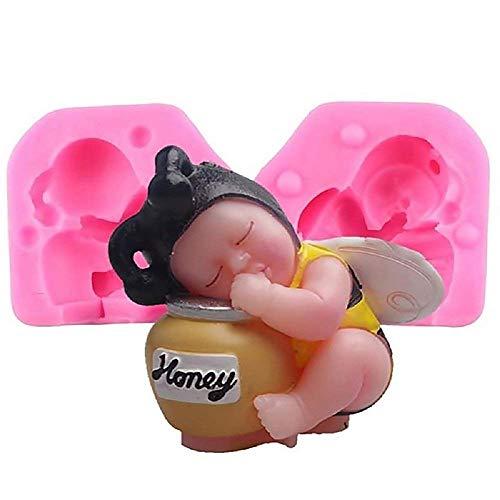 Siliconen mal voor baby ambachtelijke gebruik als een bij op een honingpot - ook geschikt voor kaarsen
