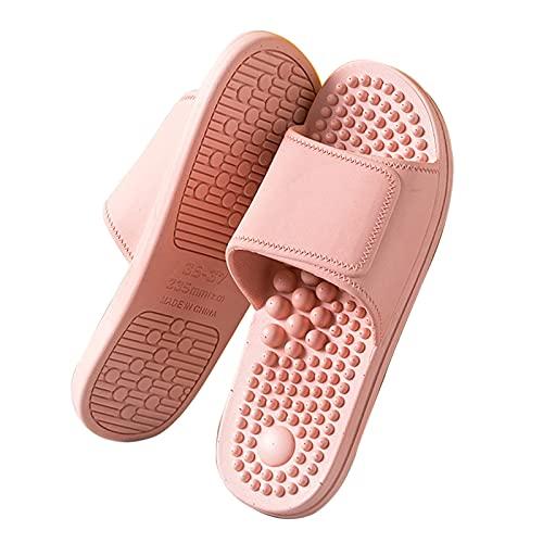 KAMWD Slippers Women Shower Massage Slippers, Reflexology Acupressure Massagers Sandal Indoor Open Toe House Bedroom Slippers Women Couples Mens Ergonomic Design, Non-Slip Soft Bottom