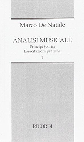 Analisi musicale. Principi teorici, esercitazioni pratiche