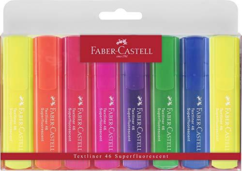 Faber-Castell 154662 - Subrayador (8 unidades), multicolor