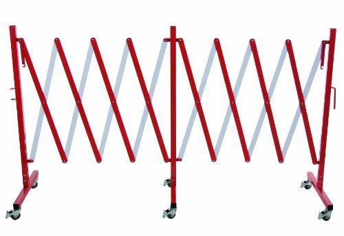 Absperrgitter Scherengitter Absperrer mit 6 Rädern aus Aluminium 3,5 Meter Länge