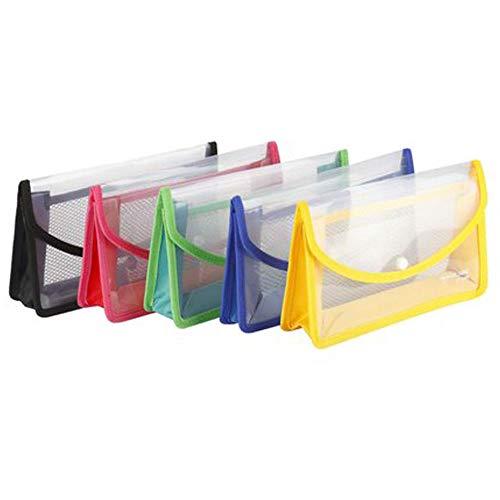GreatDio® Flexi Button Bag Cheque Book Holder/Document Holder/Passbook Holder/Cheque Book Organizer/Cheque Book Pouches 6 INCH X 10 INCH (Pack of 2) - Multicolour