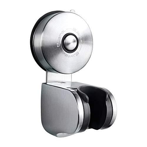Duschkopfhalterung Saugnapf- JOMOLA Verstellbarer Brausehalter Bad Saugnapf Duschkopfhalter Abnehmbarer Handbrause Halterung Gebürstetem Nickel