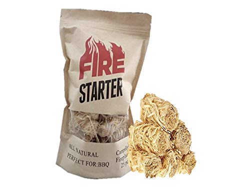GTS Fire Starter for Charcoal and Firewood, Super Fast Lighting, Perfect for BBQ, Campfire and Fireplace, All Natural, Long 8-10min Burn, Waterproof and Sealed Pack, 25 pcs
