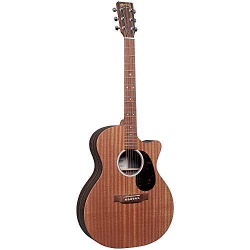 Martin Guitar X Series GPC-X2E Acoustic-Electric Guitar with Gig Bag, Mahogany Pattern High-Pressure Laminate, 14 Fret Cutaway, Performing Artist Neck Shape