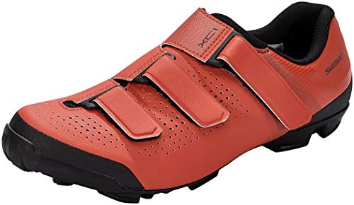 SHIMANO Zapatillas MTB XC100, Unisex Adulto, Rojo, 43 EU