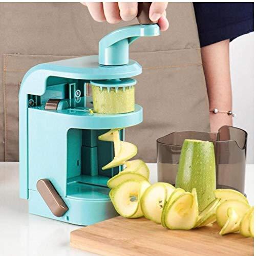 Dorime Obst und Gemüse vielseitig Küchenhelfer manuelles Spirale Kartoffel-Karotten Gemüseschneider Messer Schleifwerkzeuge