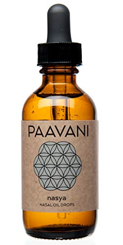 PAAVANI Ayurveda Nasya Oil - Made in USA - 100% Organic - Ayurvedic Nasal Cleaner & Moisturizer Drops for Sinus Relief (2 oz)