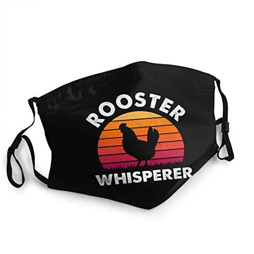 Rooster Whisperer Distressed Poultry Farmer Dust Mask Adjustable Mouth Mask Balaclava Bandanas for Kids Teens Men Women Black