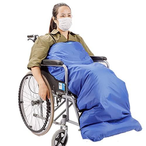 BDXZJ Leichte Rollstuhldecke, Ältere Rollstuhldecke, Bequeme Rollstuhldecke, Warmer Rollstuhlfußsack Wasserdichtes Winddichtes Universal Fit für Manuell Und Elektrisch Betriebene Rollstühle Small