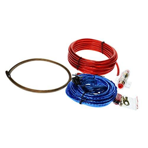 perfk Auto Installations-Set, Car HiFi-Verstärker Endstufe Kabel + Anschlusskabel + Cinchkabel + Sicherungshalter
