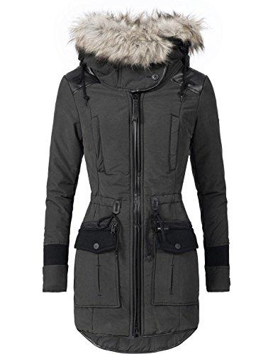 Khujo Mujer Abrigo de invierno parka de invierno ym-retro BUGS 4 colores...
