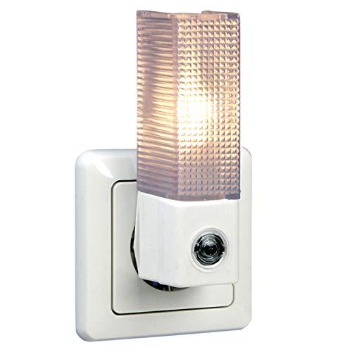 REV 0029310102 Nachtlampe, LED Nachtlicht Dämmerungsautomatik, 5 LEDs, 10 Lux, weiss