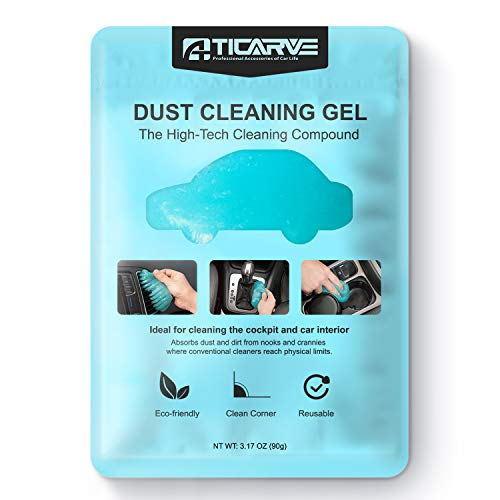 Cleaning Gel for Car Detailing Putty Car Vent Cleaner Goo Cleaning Putty Gel Auto Detailing Tools Car Interior Cleaner Dust Cleaning Mud for Cars Dust Cleaner Slime Keyboard Cleaner Gel (1Pack)