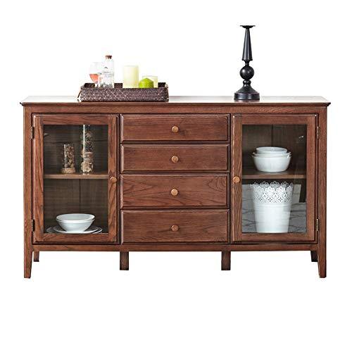 Aparador Grande Gabinete de almacenamiento de buffet de madera Aparador Cocina Salida de almacenamiento Bar Sala de entrada Madera Armario de Almacenamiento ( Color : Brown , Size : 135x40x80cm )