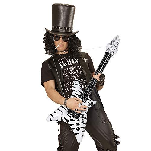 WIDMANN 04814hinchable Rock Star Guitarra, unisex?Adultos, color blanco/negro, talla única , color/modelo surtido