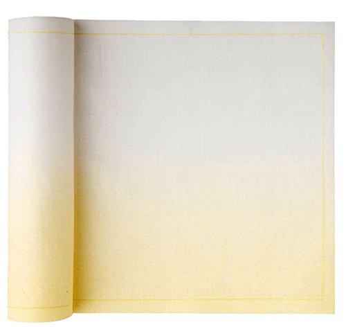 Mydrap Serviettes en Papier sur Rouleau, 100 % Coton, 20,1 cm par 20,1 cm avec 25 Serviettes par Rouleau, Coton, Fading Pastel Yellow, 8.0 x 8.0