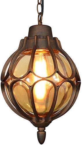 Beautiful Home Decoratielampen Waterdichte hanglamp E27 buiten/binnen hanglamp aluminium glazen balverlichting lantaarn Vineyard Villa Yard Porch Corridor grape frameverlichting, Br