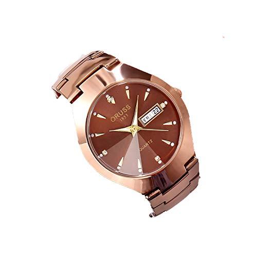 LONGRUI Reloj De Cuarzo De Moda para Mujer, Impermeable 30M Adecuado para Parejas,Man
