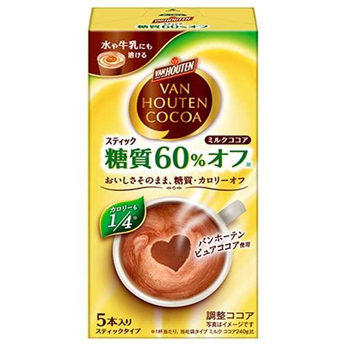 片岡物産 バンホーテン ミルクココア 糖質60%オフ (10g×5本)×30箱入×(2ケース)