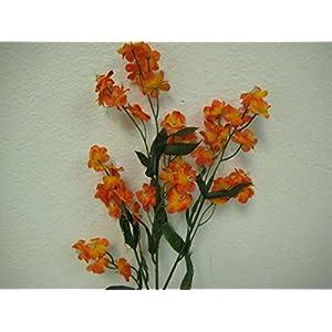 for 12 Sprays Gypsophila Baby Breath Filler Artificial Silk Flowers 18″ Stem 828 Floral Décor Home & Garden – Color is Orange