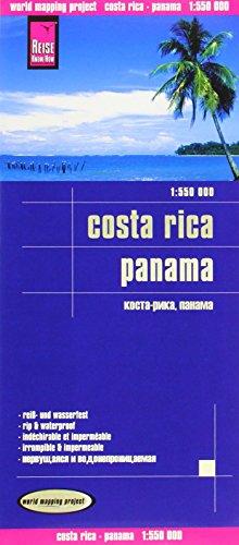 Reise Know-How Landkarte Costa Rica, Panama (1:550.000): worldmappingproject