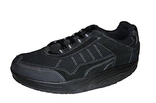 ZAPATO EUROPE Damen Herren Aktivschuhe Freizeit Schuhe Lederschuhe Gesundheitsschuhe Gondelschuhe Sneaker mit Spezialsohle für Sport und Freizeit SCHWARZ Gr. 41