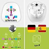Lencent 2X Universal Adapter auf Deutschland DE Schuko Steckdose, zum Anschluss ausländischer Geräte Stecker z.B. UK England, USA Amerika, China, Japan, u.v.m, Reisestecker Reiseadapter Stromadapter - 2