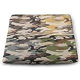 Houity Camouflage-Muster, 100% Polyester, quadratisch, mit Kissenkern, Stuhlkissen,...