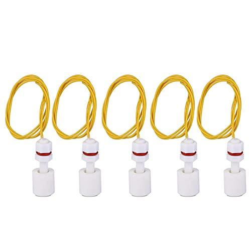 Baverta Interruptor de Flotador de Nivel-5 uds, Interruptor de Flotador de plástico PP, Tanque de Agua, Controlador de Sensor de Nivel de líquido para Piscina P3508