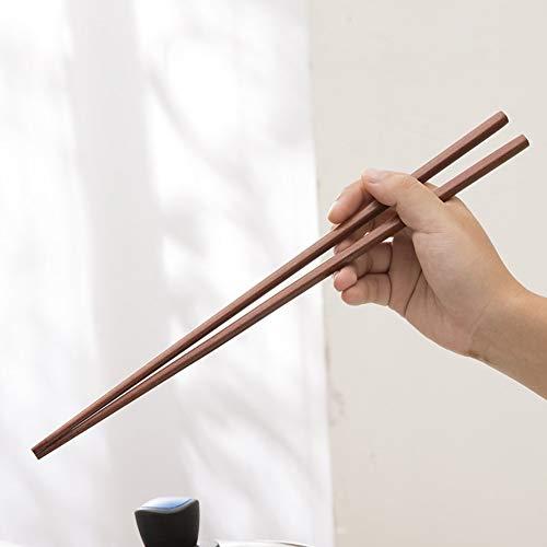 Palillos de madera de 42 cm para olla caliente, freír, palillos alargar la olla de madera de estilo chino para cocinar palitos de comida fideos utensilios de cocina freír
