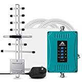Cell Phone Booster Mobile Signal Booster for All US Carriers AT&T Verizon T-Mobile Band 2 4 5 12 13 17 Cell Booster GSM 2G 3G 4G LTE Voice and Data Cellular Signal Repeater for Home and Office