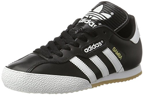 Adidas Mens Samba Black Leather Trainers 9 US