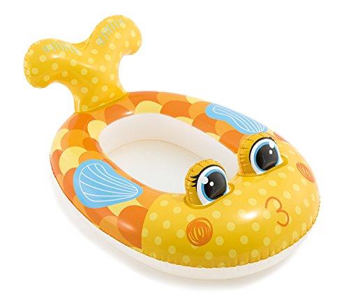 Haberkorn Intex Boot für Kinder Schlauchboot oder Planschbecken in 3 Designs (Gelb / Fisch Lady)